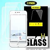 SHANINE iPhone 8 iPhone 7 Screen Protector Full Coverage HD Tempered Glass Bubble Free 9H Hardness Anti-Scratch HD Clarity 3D Touch Compatible with Apple iPhone 8 iPhone 7 iPhone 6s iPhone 6 - White