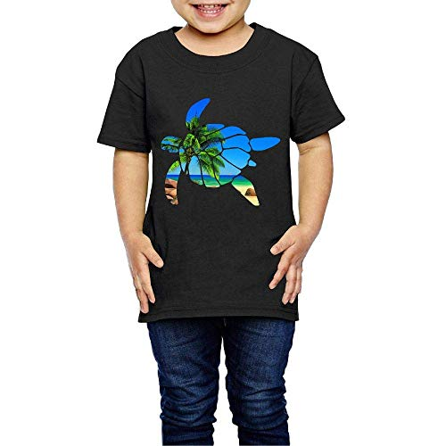 Sea Turtle Costume Infant Kids Crew Neck Short Sleeve Shirt Tee for 2-6 Toddlers Black -