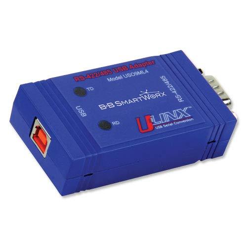 B+B SmartWorx/Advantech USO9ML4 USB to RS-422/485 Adapter, Isoalted, DB9,