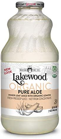 Lakewood Organic PURE Aloe Inner Leaf, Fresh Pressed (32 oz, 6 pack)