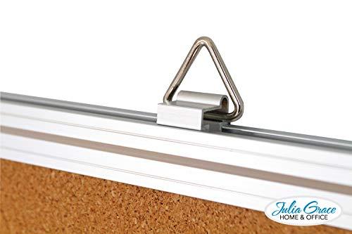 Large Cork Board 48 x 36 Inches | Silver Aluminium Frame Bulletin Board | Wall Mounted Notice Board | Full Warranty Photo #3