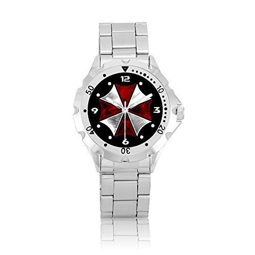 Wristwatch Men Stainless Steel Watch PSM319 Resident Evil Umbrella Corporation B