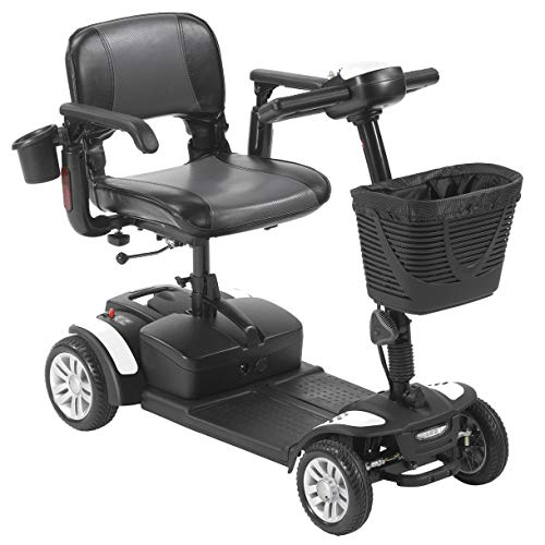 Drive Medical Scout Compact Travel Power Scooter, 4 Wheel, Extended Ba