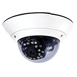 540 TVL Varifocal 50 ft IR Outdoor Dome Security Camera with Active UTP [OPEN BOX]