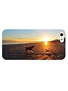 3d Full Wrap Case for iPhone 6 plus 5.5 Animal Happy Dog On The Beach99