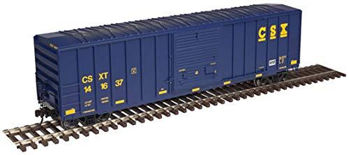 Atlas HO Scale FMC 5077 Single Door Boxcar CSX #141660 (Yellow Conspicuity Mark)