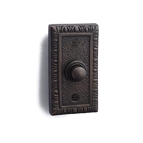 Rectangular Doorbell Button (Casa Hardware Rug Style Solid Brass Rectangular Doorbell with Push Button in Oil Rubbed Bronze Finish)