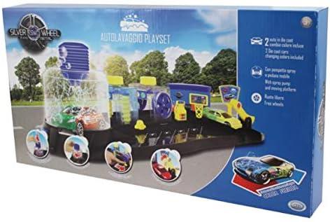 ODS ODS-41330 Silver Wheel Playset Autolavado con Coche Incluido, Color Negro, 41330