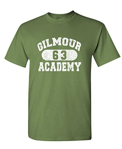 GILMOUR ACADEMY 63 - rock music 70's disco - Mens Cotton Tee, XL, Military