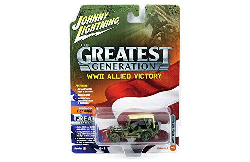 Johnny Lightning 1:64 WWII Allied Victory Willis MB Jeep wit