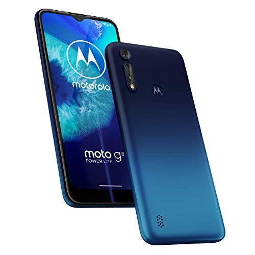 Motorola Moto G8 Power lite XT2055 Dual-SIM 64GB (GSM Only | No CDMA) Factory Unlocked 4G/LTE Smartphone (Royal Blue) - International Version