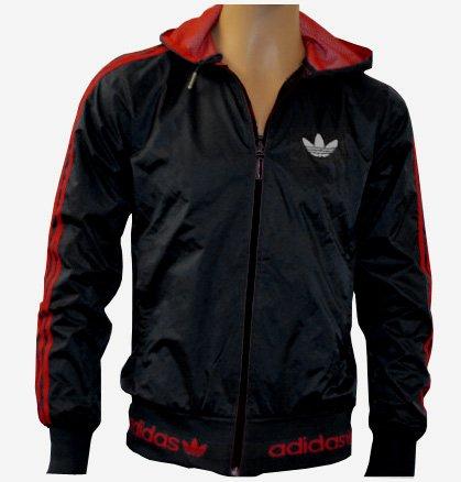 Adidas winterjacke schwarz rot