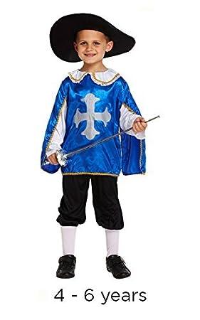 Disfraz infantil mosquetero Pequeño 4-6 AÑOS: Amazon.es: Juguetes ...