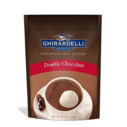Ghirardelli, Hot Cocoa Mix, Double Chocolate, 10.5oz Pouch (Pack of 2) - Ghirardelli Double Chocolate