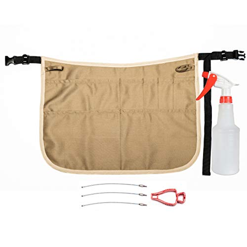 Professional Speed Cleaning Apron with Mobile Phone Holder, 7 Pockets, Glove Holder, Duster Holder, 16oz Spray Bottle – Speeds Up Cleaning, Saves Time