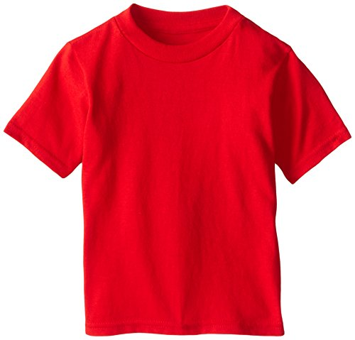 Soffe Little Boys' Toddler Pro Weight Short Sleeve Tee, Red, 2T