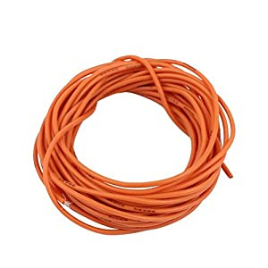 15Ft 22AWG Orange Gauge Flexible Stranded Copper Cable Silicone Wire for RC by Ugtell