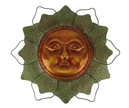 Things2Die4 Verdigris and Copper Metal Celestial Sun Flower Indoor/Outdoor Wall Decor