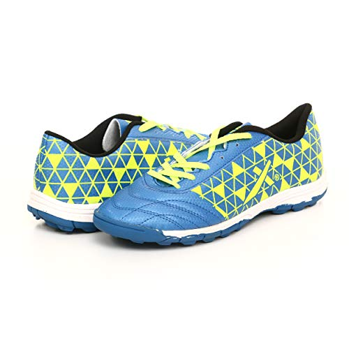 KD Vector Soccer Turf Cleats Indoor Soccer Shoes Men's Training Furious Sneaker for Men and Women Size 2 to 10 (Discovery, Blue 09)