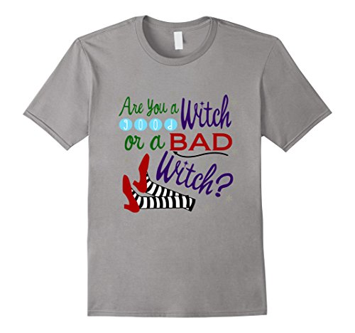 [Men's Are You A Good Witch Or A Bad Witch T-Shirt 3XL Slate] (Good Witch And Bad Witch Costumes)