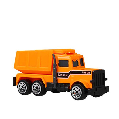 Tender Diecast (Construction Trucks Mini Cars Toy, Baifeng Assorted Construction Vehicles Die Cast Vehicle Forklift, Bulldozer, Road Roller, Excavator, Dump Truck Cars Model Toy For Boys Toddlers (B))