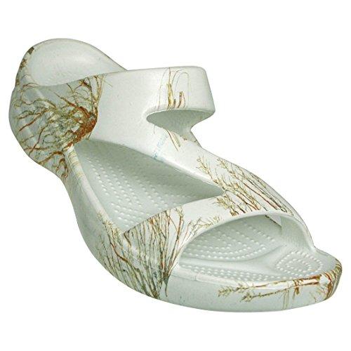 (DAWGS Mossy Oak Women's Z Sandal, Winter Brush, 11)