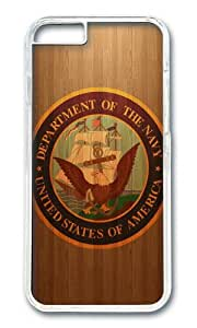 iPhone 6 Plus Case,VUTTOO Stylish Us Navy Logo Hard Case For Apple iPhone 6 Plus (5.5 Inch) - PC Transparent