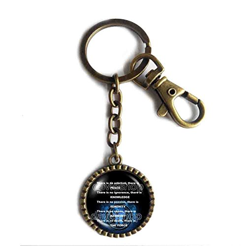 Handmade Design By ShiCong Jedi Code Keychain Key Chain Key Ring Cute Keyring Car Cosplay (Order Cosplay)