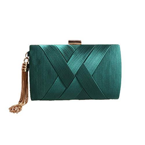Tassel Clutch Bag Small Shoulder Handbags Party Wedding Evening Bag For Women Phone Purse,green