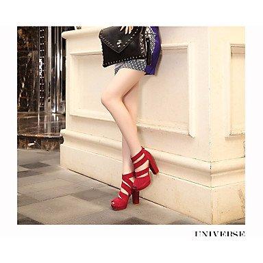 à de 7 Eté club cm Confort Chameau Talons Similicuir Femme Quotidien Chaussures club Rouge de Confort ggx Chaussures LvYuan ruby 5 Chaussures à x0qAwptp