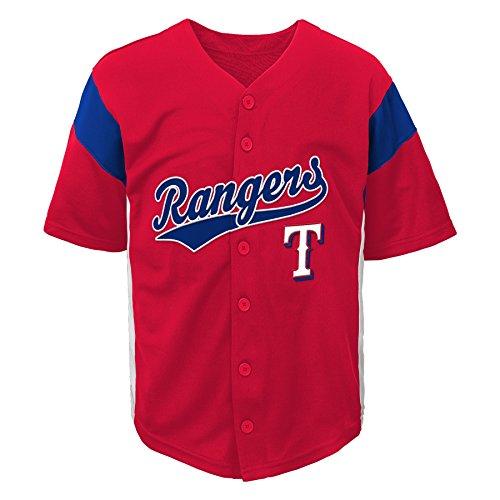 MLB Texas Rangers Boys Fashion Jersey, Athletic Red, 4/5