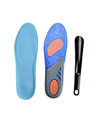 Sport Shoe Insoles ATHLETE Performance Full-Length Gel Shoe Insert,Sweat and Shock Absorption,Arch Support,Size Adjustable