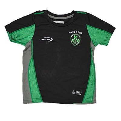 Lansdowne Black Ireland Shamrock Crest Kids Performance T-Shirt
