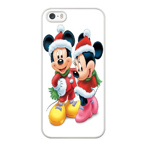 Coque,Coque iphone 5 5S SE Case Coque, Minnie En Mickey Mouse Cover For Coque iphone 5 5S SE Cell Phone Case Cover blanc