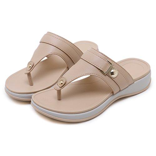 Dames Beach Wedge Rose Ruiren Sandals Femmes Summer Chaussures pour TCqUS