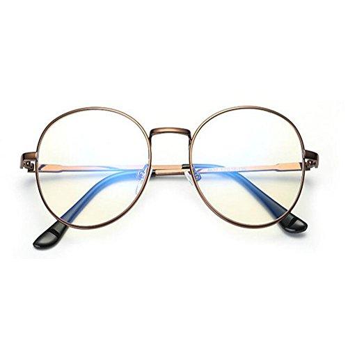 Previniendo Mujer los de ojos Anti fatiga Claro Computadora Lente Moda Xinvision azul UV Claro Anti Filtro Bronce Gafas Hombre luz Lente qT644UIw