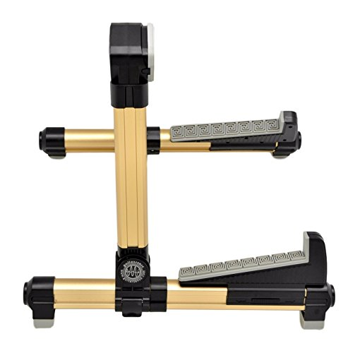 Squier Mini Player (GuitarSense Super Compact A-Frame Adjustable Folding Guitar Stand for Acoustic, Classical & Electric instruments (Gold))