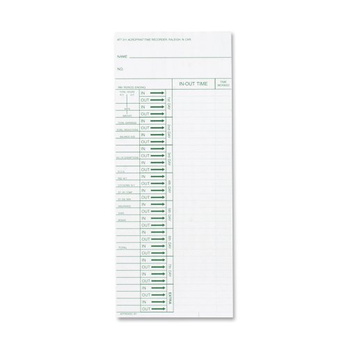 (Acroprint Time Recorder Co. Time Cards and Time Clock Accessories (ACP096103080))