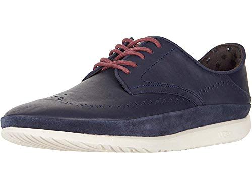 UGG Men's Cali Wing-Toe Derby Navy Leather 11 D US -