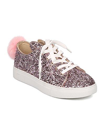 Women Glitter Bunny Ear and Tail Sneaker - Casual, Girls ...