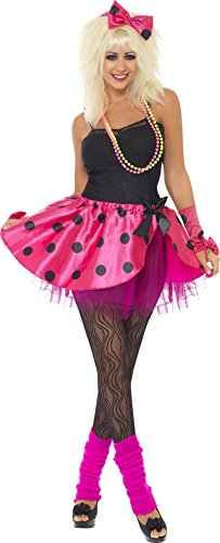 Smiffy's Tutu Instant Kit, Pink/Black, Medium (80s Womens Fancy Dress)