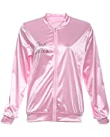 Ladies 1950s Grease Pink Lady Jacket Costume T-shirt Party Fancy Dress