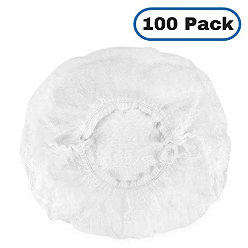 "Disposable Bouffant 21-"" (Hair Net) Caps. Great For: Labs, Nurses, Food Service, Health,& Hospitals. 100 pk"
