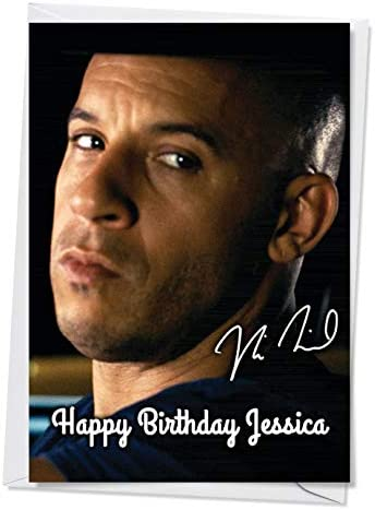PERSONALISED VIN DIESEL BIRTHDAY CARD
