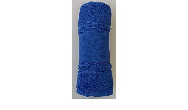 Toalla de ducha SAFIR con Aida cenefa para bordado en punto de cruz gezählten: Amazon.es: Hogar