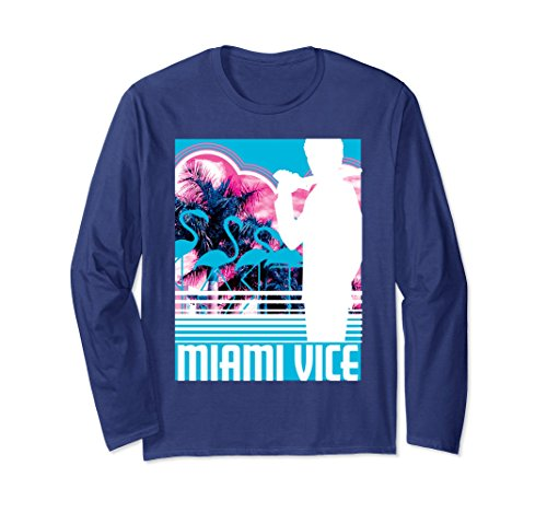 Unisex Miami Vice Classic Neon Poster Long Sleeve Shirt