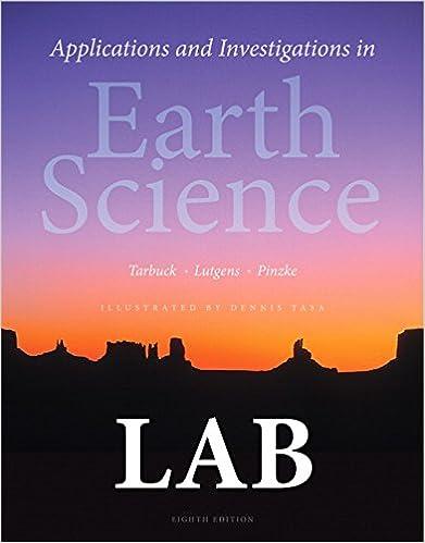 earth science tarbuck lab manual answer key