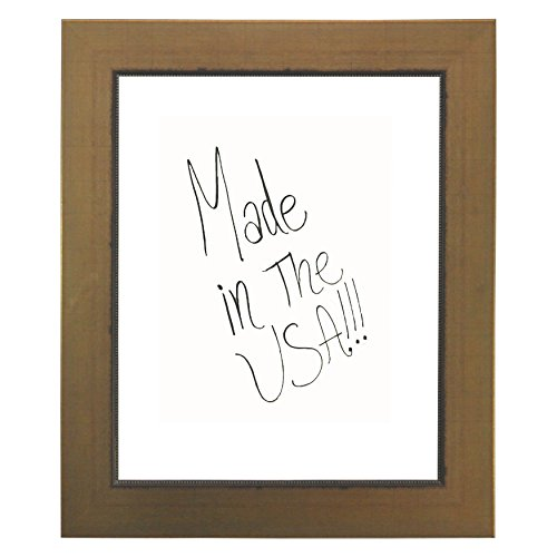Rayne Mirrors American Made Rayne Golden Lowe Dry Erase Board Exterior Size: 17 x 41 by Rayne Mirrors