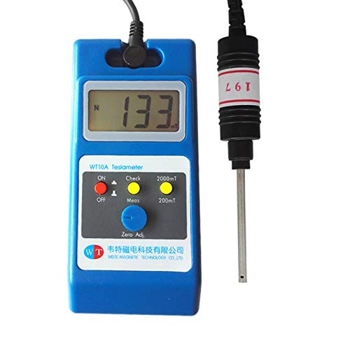 Lysee WT10A Tesla meter magnet tester Gauss table detector iron separator magnetic separator - (Color: 2)