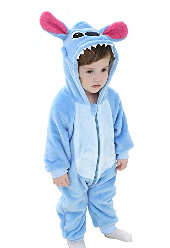 Tonwhar Unisex-Baby Animal Onesie Costume Cartoon Outfit Homewear (110:Ages 24-30 Months, Stitch) -
